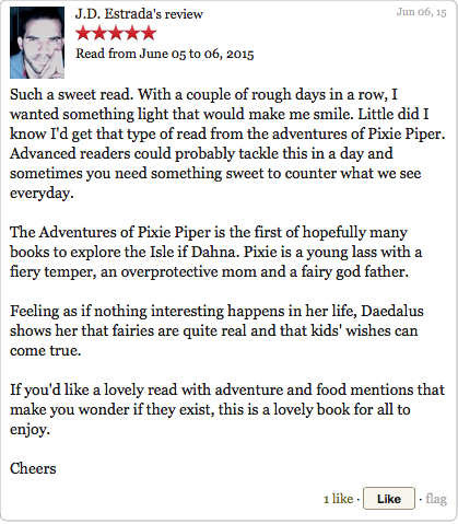 Goodreads Review by JD Estrada